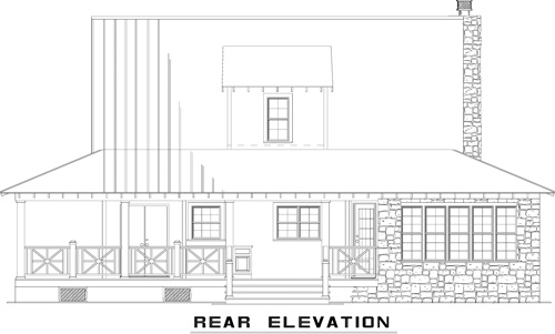NDG1384-Rear Elevation