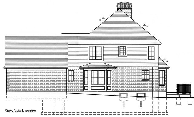 HPP 24154 house plan  RIGHT SIDE ELEVATION-1