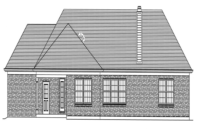 HPP 24178 house plan REAR ELEVATION