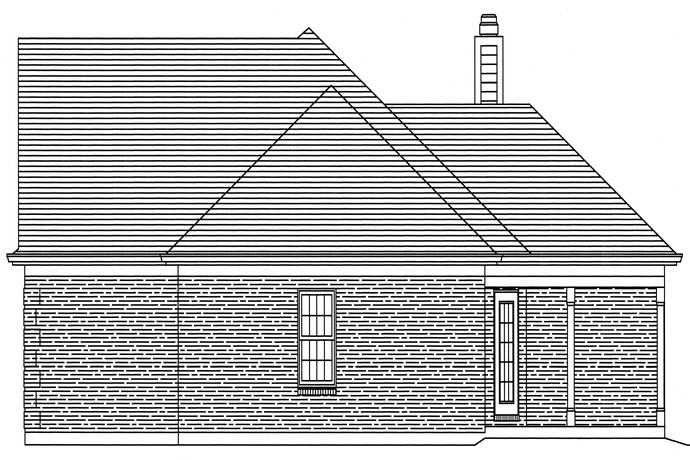 HPP 24178 house plan RIGHT SIDE ELEVATION-1