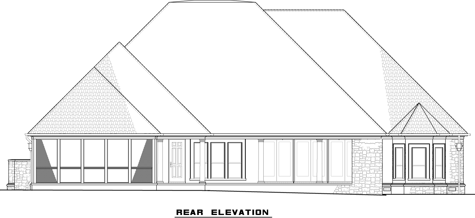 MEN 5050-Rear Elevation