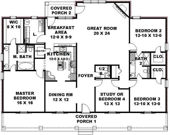 Bedroom house floor plans garage room plan apartment House plans without garage