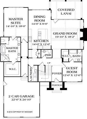 Single Story House Plans Without Garage Single Bedroom House Plans