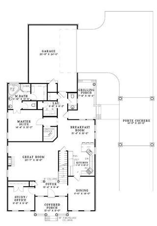 Single Story House Plans With 3 Car Garage Single Room House ...