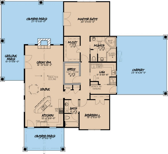 HPP 21299 house plan -Main-Color