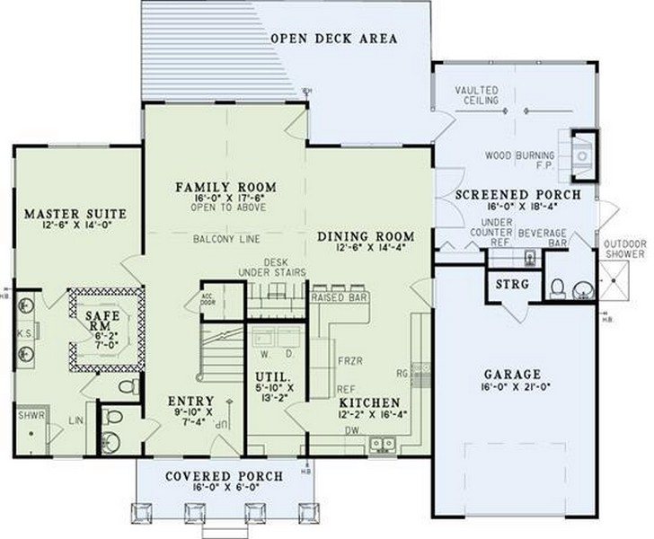 HPP 2679 house plan main floor